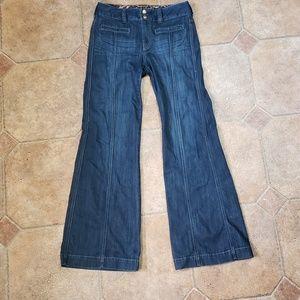 Express x2 High Rise Wide Leg Denim Jeans